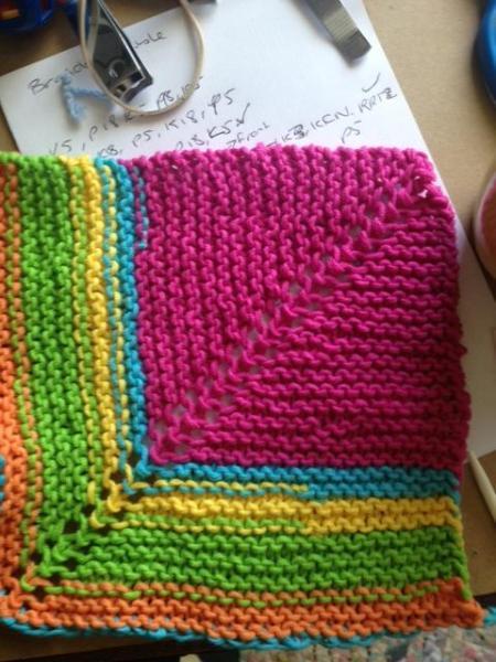 finished dishcloth